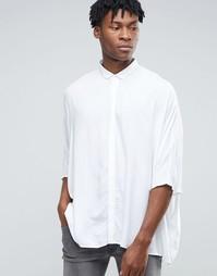 Белая oversize-рубашка из вискозы ASOS - Белый