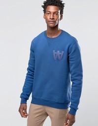 Wood Wood Houston Sweatshirt AA Logo - Синий