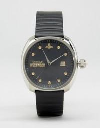Часы с черным кожаным ремешком Vivienne Westwood - Черный