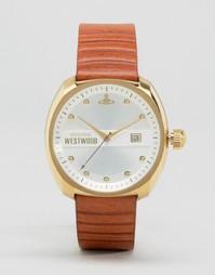 Часы со светло-коричневым кожаным ремешком Vivienne Westwood - Рыжий