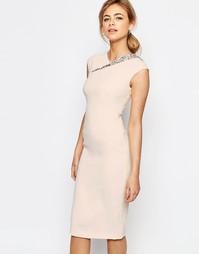 Платье с вырезом на спинке Ted Baker - Розовый