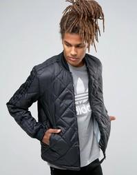 Стеганая куртка-пилот adidas Originals Superstar AY9145 - Черный