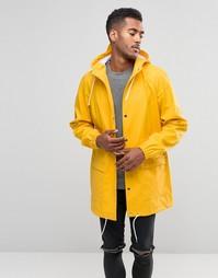 Длинная водонепроницаемая куртка с капюшоном D-Struct - Желтый