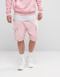 Трикотажные шорты‑карго со шнуровкой Granted - Розовый