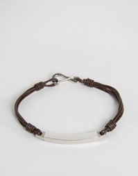 Seven London Cross Cord Bracelet In Brown - Коричневый