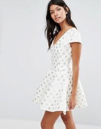Платье в горошек Pixie & Diamond - Кремовый
