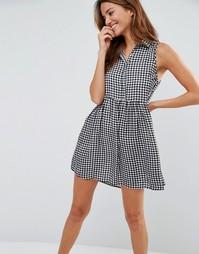 Цельнокройное платье в клетку Pixie & Diamond - Черный