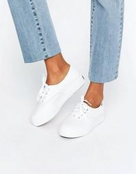 Классические кожаные кроссовки на платформе Keds - Белый