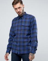 Patagonia Shirt In Check Flannel Regular Fit Navy - Темно-синий