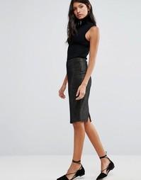 Облегающая юбка из люрекса Pixie & Diamond - Золотой