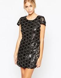 Платье с отделкой пайетками Hedonia Ashley - Серый