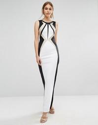 Черно-белое платье макси Forever Unique Ainsley - Кремовый