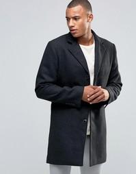 Пальто из смесовой шерсти D-Struct - Черный