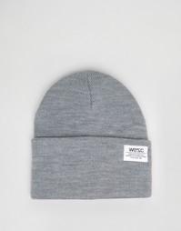 Вязаная шапка-бини Wesc Puncho - Серый