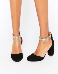 Туфли на среднем каблуке из 2 частей Miss KG - Черный