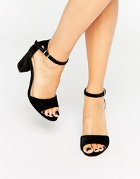 Босоножки на блочном каблуке Miss KG - Черный