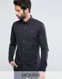 Классическая узкая рубашка стретч Farah - Черный