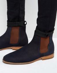Замшевые ботинки челси Bobbies LHorloger - Темно-синий