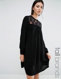 Платье с кружевной вставкой Brave Soul - Черный