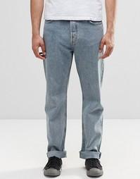 Голубые прямые джинсы Weekday Vacant - Синий
