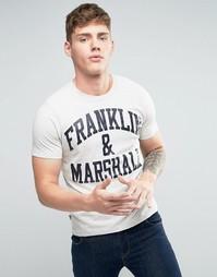 Футболка с логотипом Franklin and Marshall - Серый