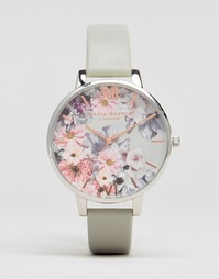 Часы с кожаным ремешком Olivia Burton Enchanted Garden OB15FS76 - Серый