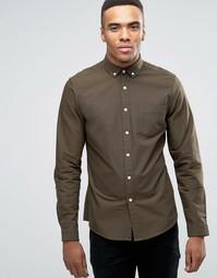 Темно-зеленая оксфордская рубашка ASOS - Зеленый
