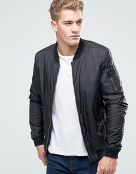 Куртка-пилот из нейлона Threadbare - Черный