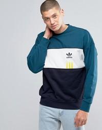 Свитшот с круглым вырезом adidas Originals ID96 AY9251 - Зеленый