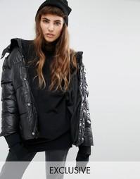 Дутая oversize-куртка Puffa - Черный