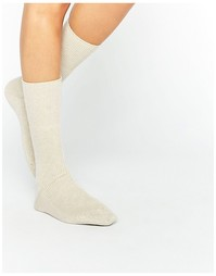 Кашемировые носки кремового цвета Johnstons of Elgin - Кремовый