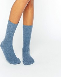 Синие кашемировые носки Johnstons of Elgin - Синий