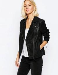 Замшевая байкерская куртка Dr Denim - Черный