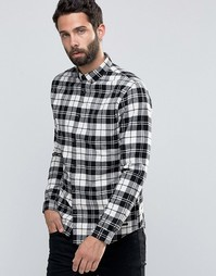 Фланелевая рубашка в клетку Only & Sons - Белый