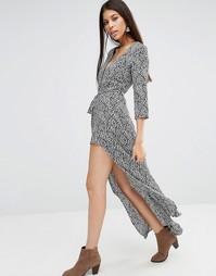 Платье макси с разрезом Goldie Great Lengths - Мульти