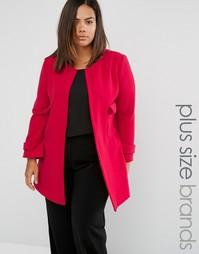 Куртка без воротника Elvi Plus - Красный