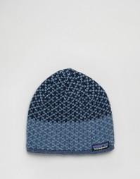 Синяя шапка-бини Patagonia Beatrice - Синий