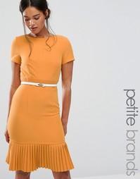 Платье с плиссированной кромкой Paper Dolls Petite - Желтый