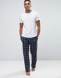 Тканые штаны для дома BOSS By Hugo Boss - Темно-синий