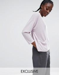 Джемпер с карманами и разрезом сзади Monki - Фиолетовый
