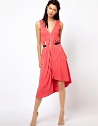 Платье с драпировкой и боковыми вставками Kore by Sophia Kokosalaki - Розовый