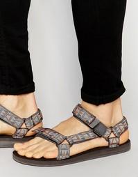 Сандалии с мозаичной отделкой Teva - Серый
