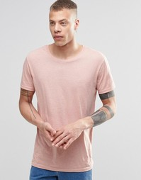 Меланжевая футболка Weekday Alex - Розовый