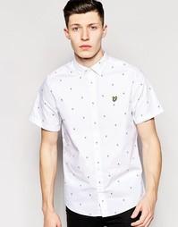 Рубашка в мелкий квадратик с короткими рукавами Lyle & Scott - Белый