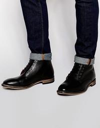 Кожные ботинки Frank Wright Oval - Черный