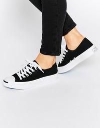Черные парусиновые кроссовки Converse Jack Purcell - Черный
