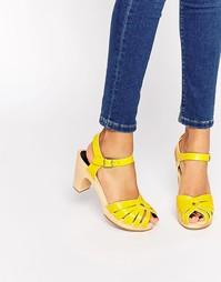 Желтые сандалии Swedish Hasbeens Fredrica - Желтый