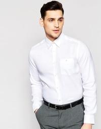 Льняная рубашка узкого кроя Ted Baker - Белый