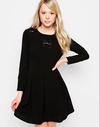 Короткое приталенное платье Jovonna Claudia - Черный