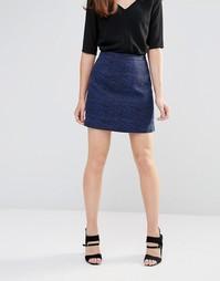 Жаккардовая юбка Sugarhill Boutique Hayley - Черный